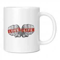 LOVE LIFE BLING FISTS 11OZ NOVELTY MUG