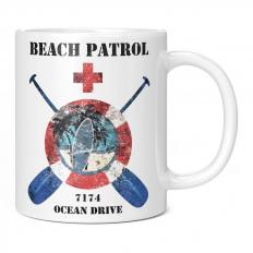 OCEAN DRIVE BEACH PATROL 11OZ NOVELTY MUG