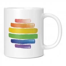 GAY PRIDE WATERCOLOUR 11OZ NOVELTY MUG