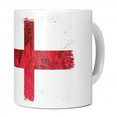 ENGLAND ST GEORGE GRUNGE FLAG 11OZ NOVELTY MUG