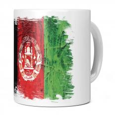 AFGHANISTAN GRUNGE FLAG 11OZ NOVELTY MUG