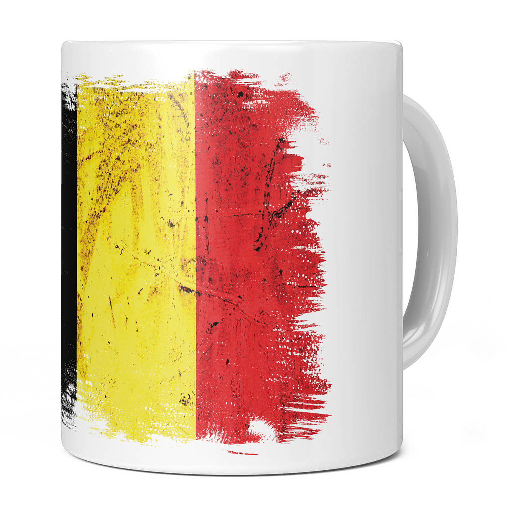 BELGIUM GRUNGE FLAG 11OZ NOVELTY MUG