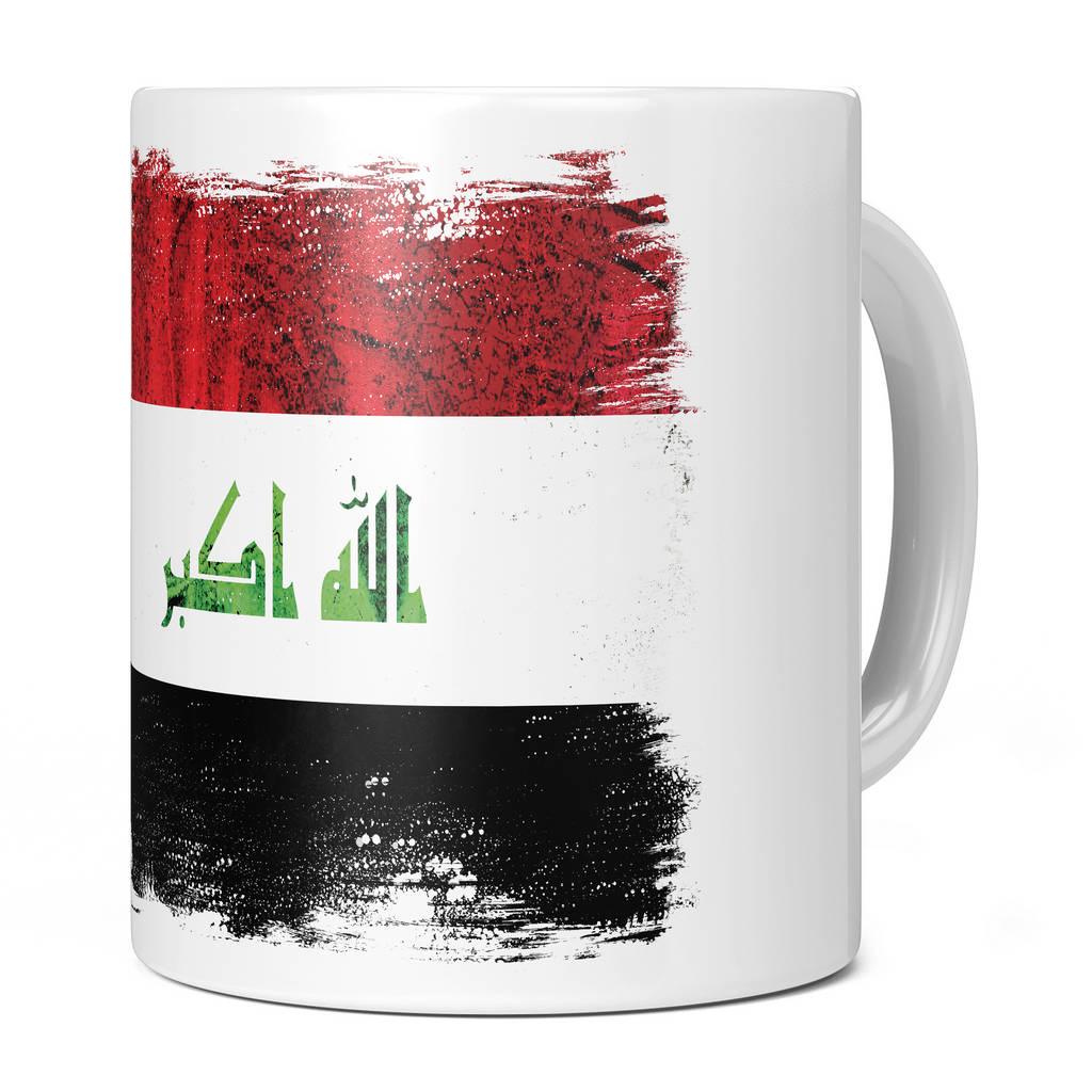 IRAQ GRUNGE FLAG 11OZ NOVELTY MUG