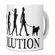 AMERICAN ESKIMO DOG EVOLUTION 11OZ NOVELTY MUG