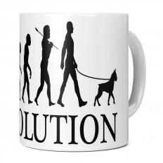 BOXER DOG EVOLUTION 11OZ NOVELTY MUG