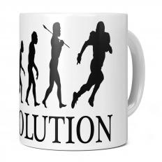 AMERICAN FOOTBALLER EVOLUTION 11OZ NOVELTY MUG