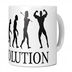 BODYBUILDER EVOLUTION 11OZ NOVELTY MUG