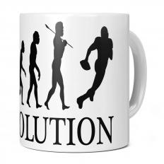 AMERICAN FOOTBALL EVOLUTION 11OZ NOVELTY MUG
