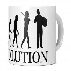 ACCORDIAN PLAYER EVOLUTION 11OZ NOVELTY MUG