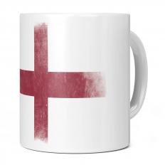 ENGLAND ST GEORGE FADED FLAG 11OZ NOVELTY MUG