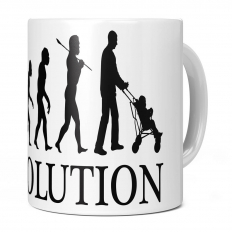 DAD WITH PUSHCHAIR EVOLUTION 11OZ NOVELTY MUG