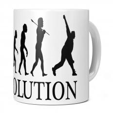 CRICKET BOWLER EVOLUTION 11OZ NOVELTY MUG