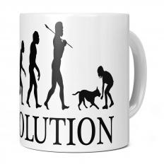 GIRL WITH DOG EVOLUTION 11OZ NOVELTY MUG