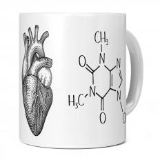 I HEART CAFFEINE 11OZ NOVELTY MUG
