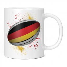 GERMANY RUGBY BALL SPLATTER 11OZ NOVELTY MUG