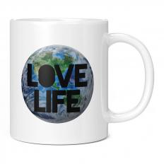 LOVE LIFE EARTH 11OZ NOVELTY MUG