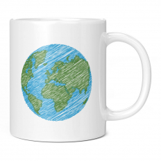 SCRIBBLED EARTH 11OZ NOVELTY MUG