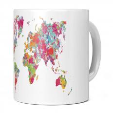 WORLD MAP SPLATTER 11OZ NOVELTY MUG