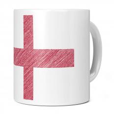 ENGLAND SCRIBBLE FLAG 11OZ NOVELTY MUG