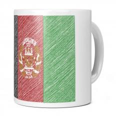 AFGHANISTAN SCRIBBLE FLAG 11OZ NOVELTY MUG
