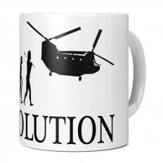 AIR FORCE HELICOPTER EVOLUTION OF MAN 11OZ NOVELTY MUG