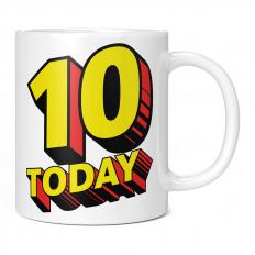 10 TODAY COMIC SUPERHERO 11OZ NOVELTY MUG