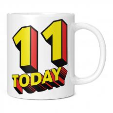 11 TODAY COMIC SUPERHERO 11OZ NOVELTY MUG
