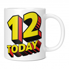 12 TODAY COMIC SUPERHERO 11OZ NOVELTY MUG