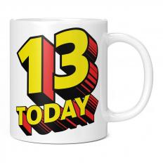 13 TODAY COMIC SUPERHERO 11OZ NOVELTY MUG