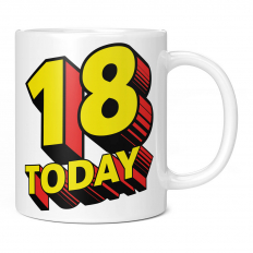 18 TODAY COMIC SUPERHERO 11OZ NOVELTY MUG