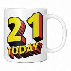 21 TODAY COMIC SUPERHERO 11OZ NOVELTY MUG