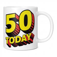 50 TODAY COMIC SUPERHERO 11OZ NOVELTY MUG