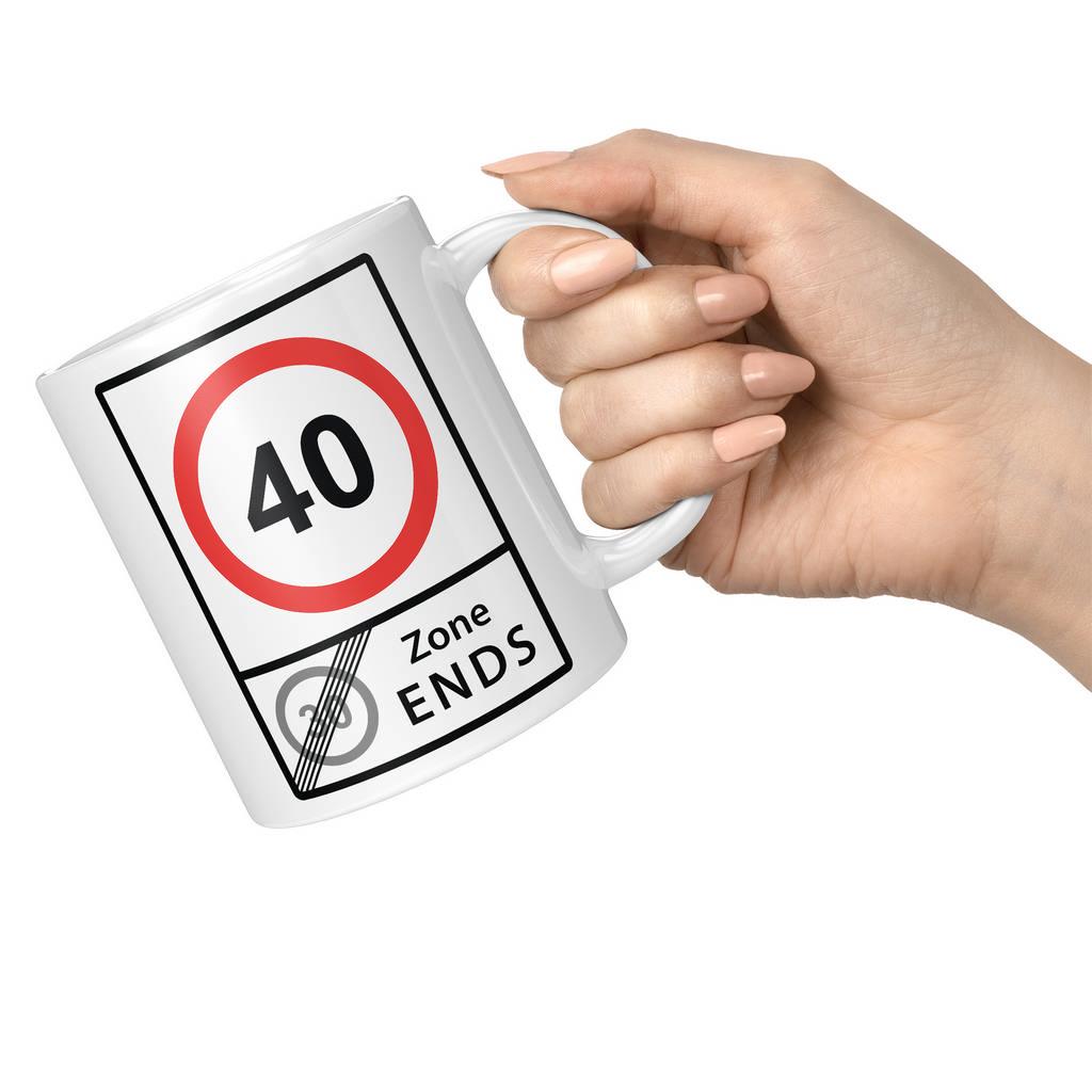 40 SPEED LIMIT 30 ZONE ENDS 11oz NOVELTY MUG Mugs
