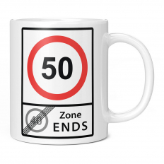 50 SPEED LIMIT 40 ZONE ENDS 11OZ NOVELTY MUG