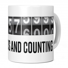 16TH BIRTHDAY 504576000 SECONDS AND COUNTING 11OZ NOVELTY MUG