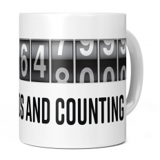 18TH BIRTHDAY 567648000 SECONDS AND COUNTING 11OZ NOVELTY MUG