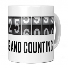 21ST BIRTHDAY 662256000 SECONDS AND COUNTING 11OZ NOVELTY MUG