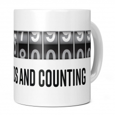 50TH BIRTHDAY 1576800000 SECONDS AND COUNTING 11OZ NOVELTY MUG