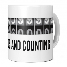 100TH BIRTHDAY 3153600000 SECONDS AND COUNTING 11OZ NOVELTY MUG