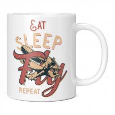 EAT SLEEP FLY REPEAT 11OZ NOVELTY MUG