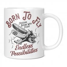 BORN TO FLY ENDLESS POSSIBILITIES 11OZ NOVELTY MUG