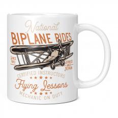 NATIONAL BIPLANE RIDES 11OZ NOVELTY MUG