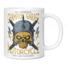 CHAMPION GARAGE MOTORCYCLE 11OZ NOVELTY MUG