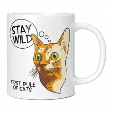 FIRST RULE OF CATS...STAY WILD 11OZ NOVELTY MUG