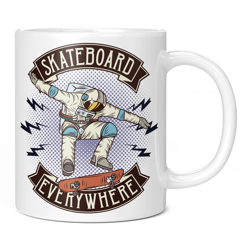 SPACEMAN SKATEBOARD EVERYWHERE 11OZ NOVELTY MUG