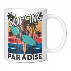 SAN DIEGO SURFING PARADISE 11OZ NOVELTY MUG