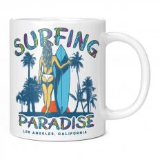 LOS ANGELES SURFING PARADISE 11OZ NOVELTY MUG