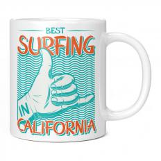 BEST SURFING IN CALIFORNIA 11OZ NOVELTY MUG