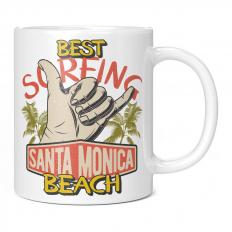 BEST SURFING SANTA MONICA BEACH 11OZ NOVELTY MUG