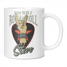 BORN TO BE A ROCK AND ROLL STAR 11OZ NOVELTY MUG